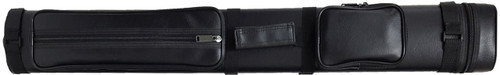 Black Hard Pool Cue Case for 2 Butts, 4 Shafts
