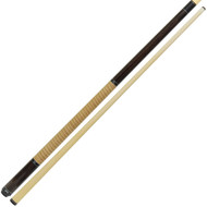 Dakota Pool Cue - Walnut Finish with Tan Leather Stack Wrap