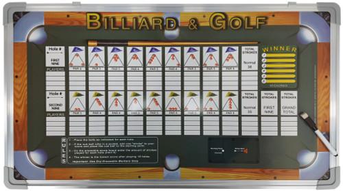 Billiard & Golf Wall-Mounted Scoreboard Game