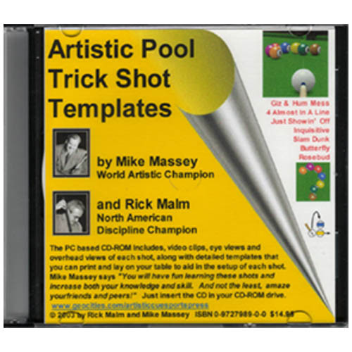 Artistic Pool Trick Shot Templates CD-ROM