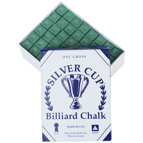 Silver Cup Chalk, Green, 144-Piece Box