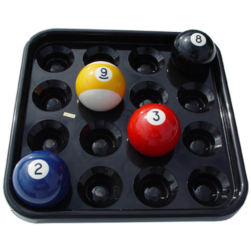 Black Plastic Pool Ball Tray