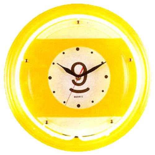 Large 9-Ball Neon Clock