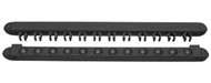 Roman-Style Two-Piece Wall Rack, Black, 12 Cue