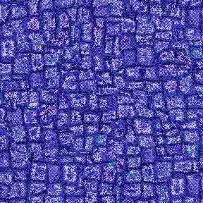 ArtScape Blue Mosaic Pool Table Cloth