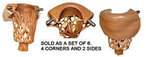 Sterling Light Leather Pool Table Pockets (Set of Six)
