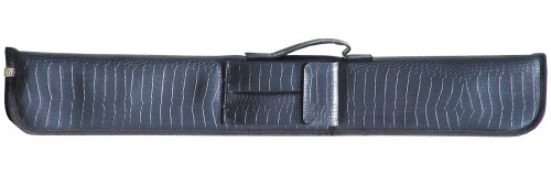 Sterling Black Alligator Pool Cue Case for 2 Cues
