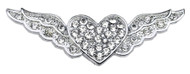 "3/8"" Slider Butterfly Charm Clear 3/8"""