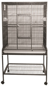 Flight Bird Cage with Stand, Blue, 32 x 21 inch x 63