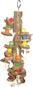 Happy Beaks Real Wood Hanging Cylinders Bird Toy, 15 x 20 inch