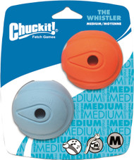 Chuckit! Whistle Ball Dog Toy, Medium 2.5-Inch, 2-Pack