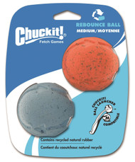 Chuckit! Rebounce Ball Dog Toy, Medium 2.5-Inch, 2-Pack