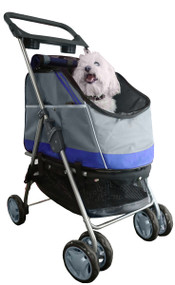Outdoors 'All-Surface' Convertible All-In-One Pet Stroller Carrier And Car-Seat - Blue