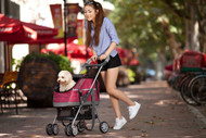The Pet Life All Surface Convertible stroller is a Multi-Purpose use stroller that converts 3-in-1 ways, as a Dog Stroller, Dog Carrier and Dog Car seat.