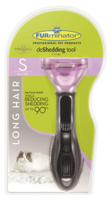 Furminator Long Hair Cat Deshedding Tool, Small