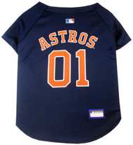 Houston Astros Baseball Dog Jersey
