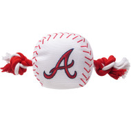 Atlanta Braves Nylon Baseball Rope Pet Toy