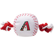 Arizona Diamondbacks Nylon Baseball Rope Pet Toy 1