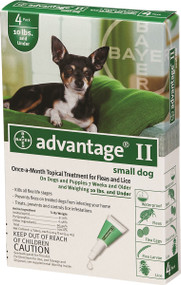 Protect your little friend with Advanatge II Flea & Tick protection for small dogs.