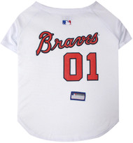 Atlanta Braves Baseball Dog Jersey