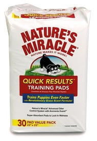 Natures Miracle Quick Results Training Pads - 30 Count
