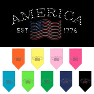 We offer Classic American doggie bandanas in many colors!