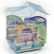 Double Roof Bird Cage Kit, Small, Blue/White