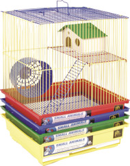 2 Story Gerbil & Hamster Cage, Assorted - 4 Pack