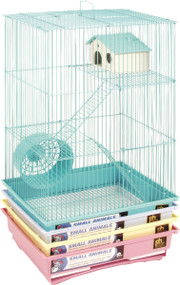 3 Story Gerbil & Hamster Cage, Assorted - 4 Pack