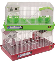 Deluxe Gerbil & Hamster Cage, Assorted - 4 Pack