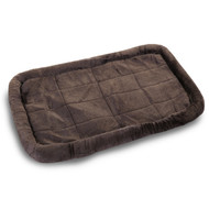 Economical Crate Pet Bed Mat in Charcoal colored Sherpa for a custom fit in your puppy's 30 inch standard wire dog crate.