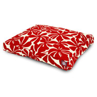 Plantation Small Rectangle Pet Bed - Red , Medium, 29in X 36in