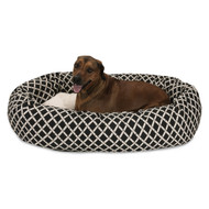 "52"" Black Bamboo Sherpa Bagel Bed"