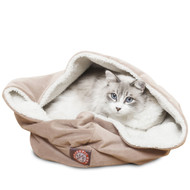 """17"""" Stone Suede Burrow Bed"""