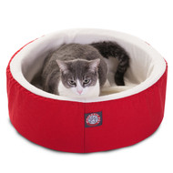 "16"" Red Cat Cuddler Pet Bed By Majestic Pet Products"