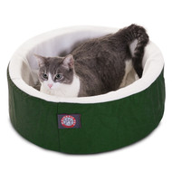 "16"" Green Cat Cuddler Pet Bed By Majestic Pet Products"