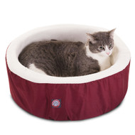 "16"" Burgundy Cat Cuddler Pet Bed By Majestic Pet Products"