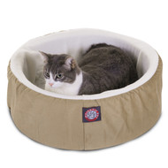 "16"" Khaki Cat Cuddler Pet Bed By Majestic Pet Products"