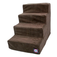 4 Step Chocolate Suede Pet Stairs By Majestic Pet Products