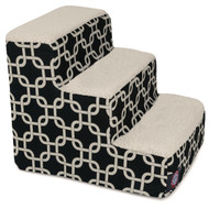 3 Step Black Links Pet Stairs By Majestic Pet Products