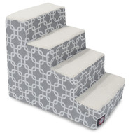 4 Step Gray Links Pet Stairs By Majestic Pet Products