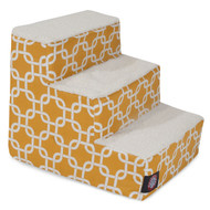 3 Step Yellow Links Pet Stairs By Majestic Pet Products