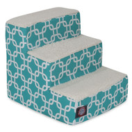 3 Step Teal Links Pet Stairs By Majestic Pet Products