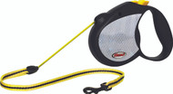 Reflective Neon Tape Retractable Leash - Yellow - Small