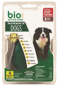 Bio Spot Active Care Flea&Tick Spot Dog With Appl