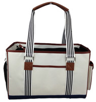 Our pet carrier is perfect for small dogs or a large cats and great for safely transporting your pet.