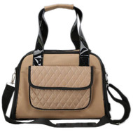 Plenty of storage with our brown airline approved pet travel carrier.