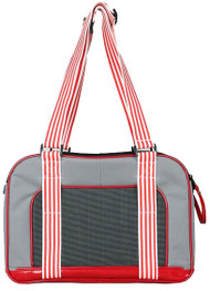 Fashionable Candy Cane Stripe handle and decorative strap.