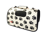 This stylish paw print airline approved pet carrier is great for all sorts of Pet Travelers.