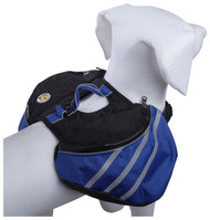 Our pet backpacks are perfect for working dogs.